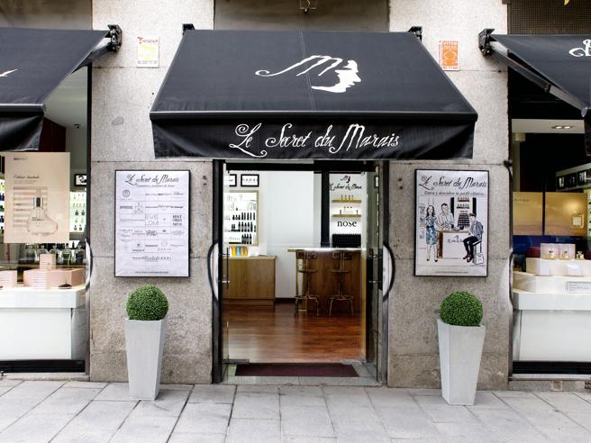 Le Secret du Marais, a shop specializing in perfumes unique, located on calle Hortaleza (Madrid)