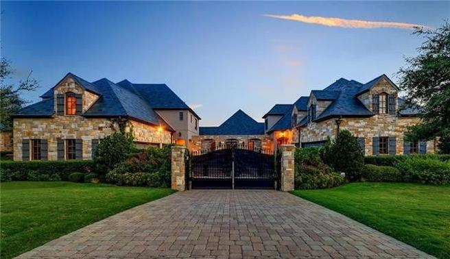 In Fort Worth, Texas, is made with a mansion huge.