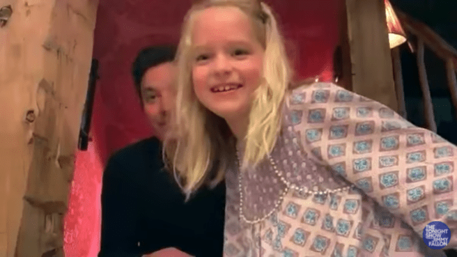 Time the daughter of Jimmy Fallon interrupted for the second time