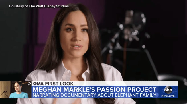 Interview with Meghan Markle on 'Good Morning America'.