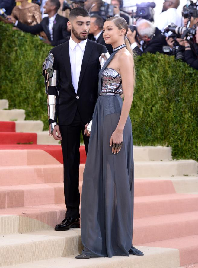 Zayn Malik and Gigi Hadid at the gala inspired by the use of technology in fashion