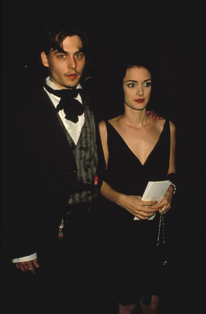 Johnny Depp and Winona Ryder when they were a couple in the early 90's
