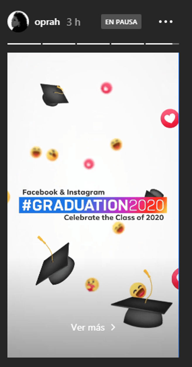 History of Instagram of Oprah Winfrey, the master of ceremonies of the event virtual graduation