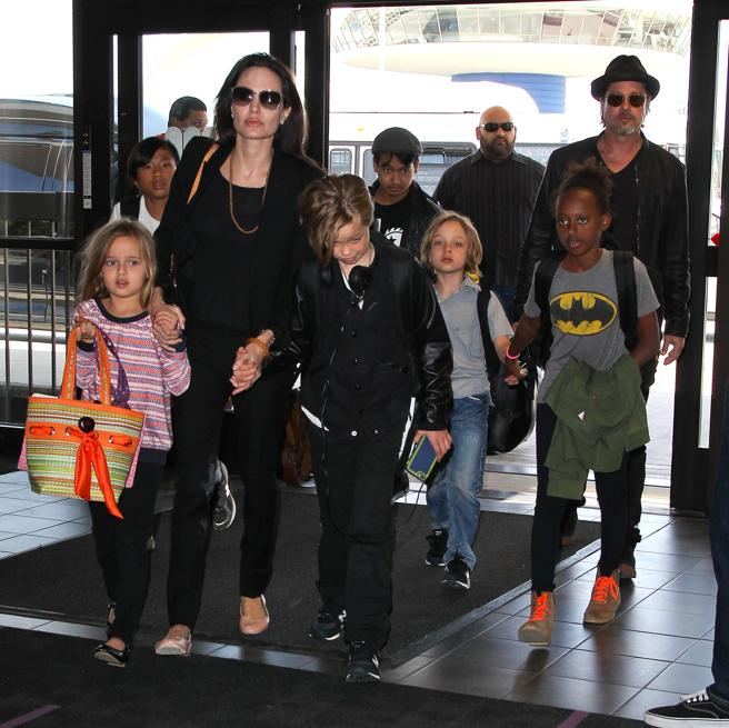 The six children of Brad Pitt and Angelina Jolie appear in the sixth position of the list