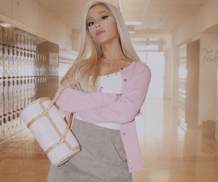 Promotional image of the video clip of 'Thank you', 'next', Ariana Grande.
