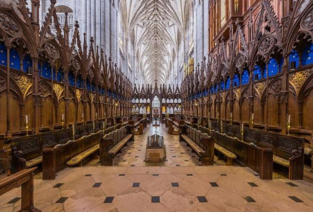 Coro de la catedral de Winchester.