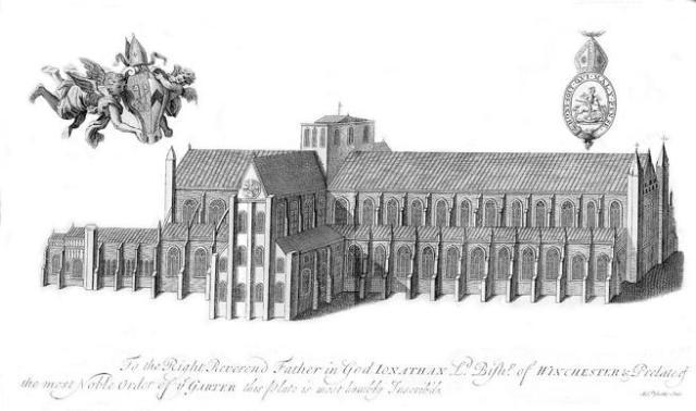 Dibujo de la catedral de 1723.