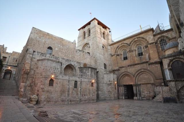 La iglesia del Santo Sepulcro, en Jerusalén.