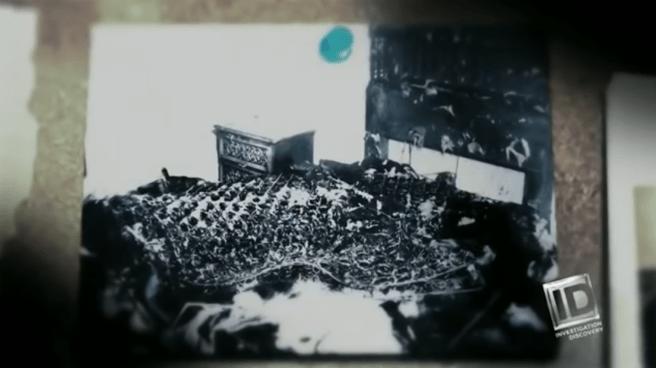 Imagen de unas de las habitaciones calcinadas donde Richard Cottingham mató a sus víctimas