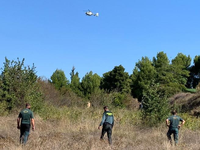 En los rastreos para dar con Rocío Gea Pérez, se dispuso de un helicóptero