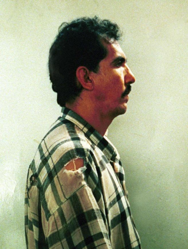 Foto de la ficha policial de Garavito