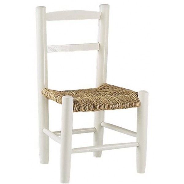 la vannerie d aujourd hui chaise enfant en bois laque blanc et paille