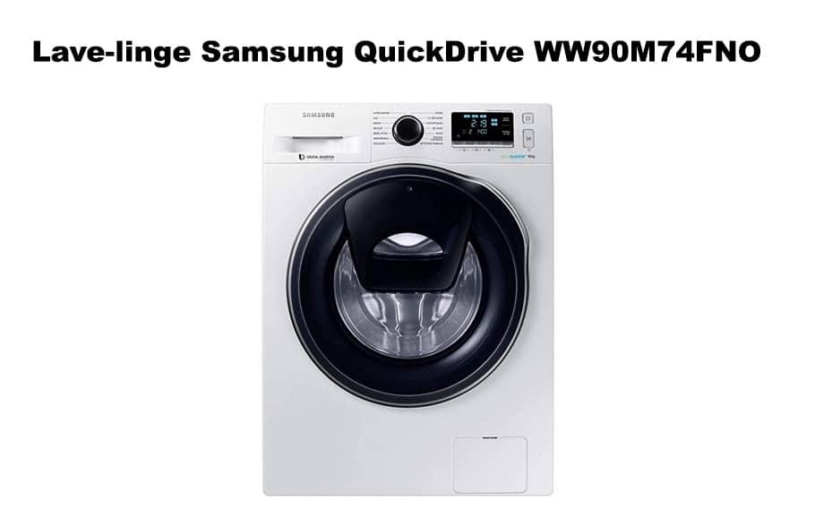 Lave-linge Samsung QuickDrive WW90M74FNO