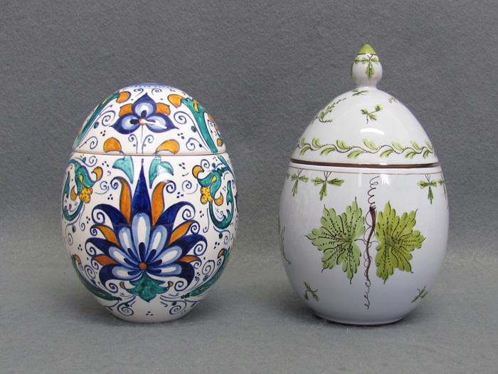 Uova Di Ceramica Dipinte A Mano.Uova Pasquali Decorate In Ceramica Artistica