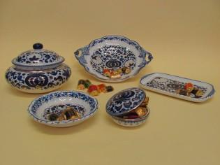 porta cioccolatini in ceramica artistica di Faenza