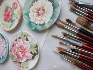 Peonie Dipinte a Luoyang