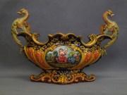 centrotavola decorato a raffaellesche, ceramica La Vecchia Faenza