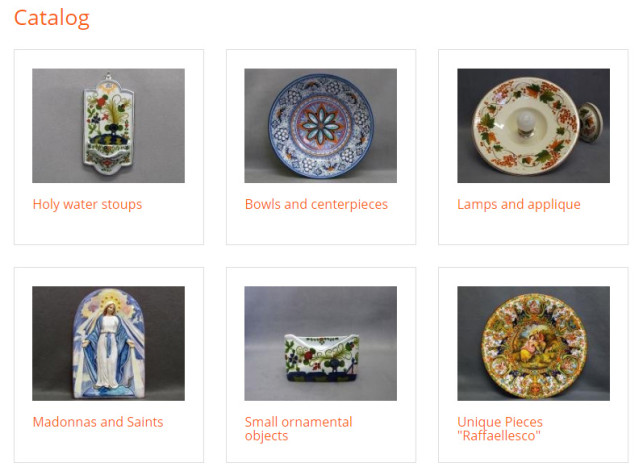 italian pottery for sale to USA
