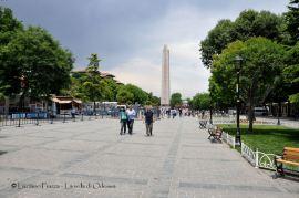 Turchia, Istanbul: l'ippodromo romano con l'obelisco di Teodosio.