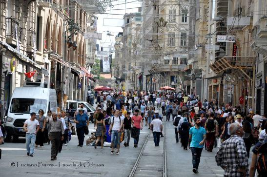 Turchia, Istanbul, via Istiklal.