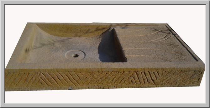 marmo pietra acquaio scavato cucina esterno taverna ARTLAV7A