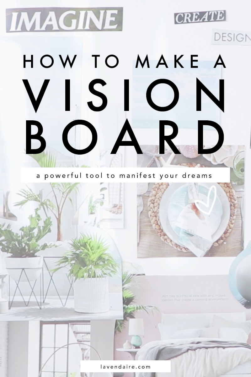 how to make a vision board | vision board DIY | DIY vision board | manifest your dreams | dream life | self help tools