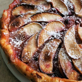 Blackberry, Apple and Raspberry Tart
