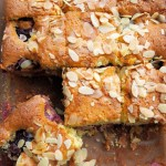 Plum and Almond Tray Bake