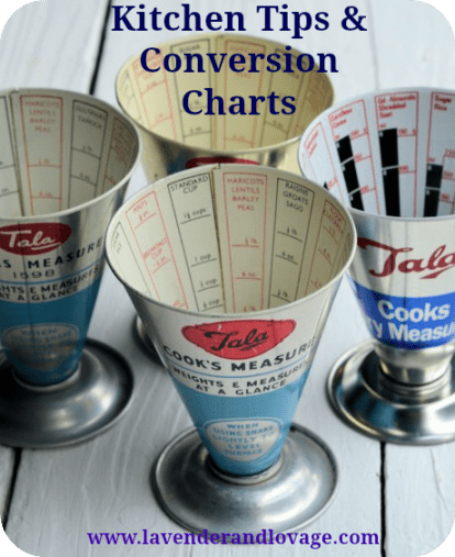 Kitchen Tips and Conversion Charts