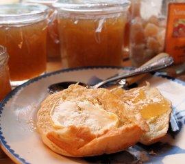 Three Fruits Marmalade with Toast and Tea