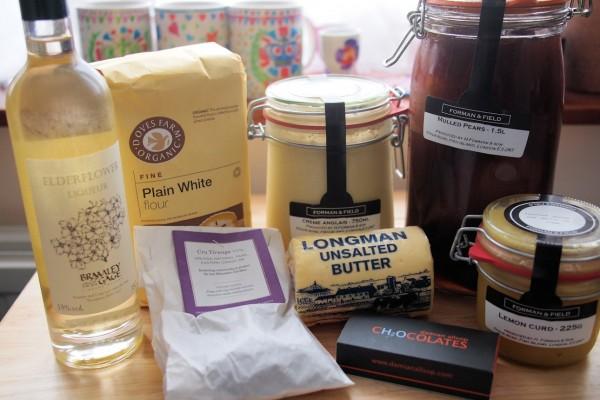 Forman & Field Mystery Box Ingredients for the Jubilee Bake Off