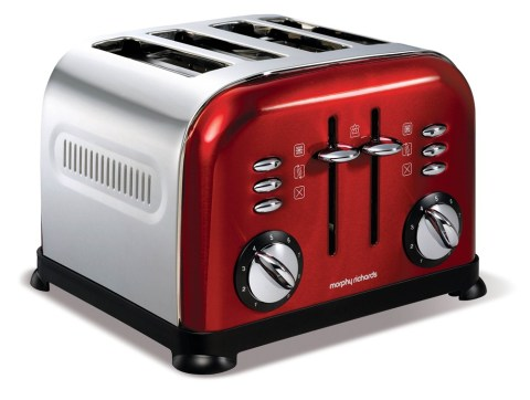 Morphy Richards Colour Boutique  - Accents Red 4 slice toaster