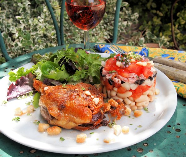 Sud de France Festival and Cassoulet salade d'été avec confit d'canard (Bean & Duck Summer Salad)