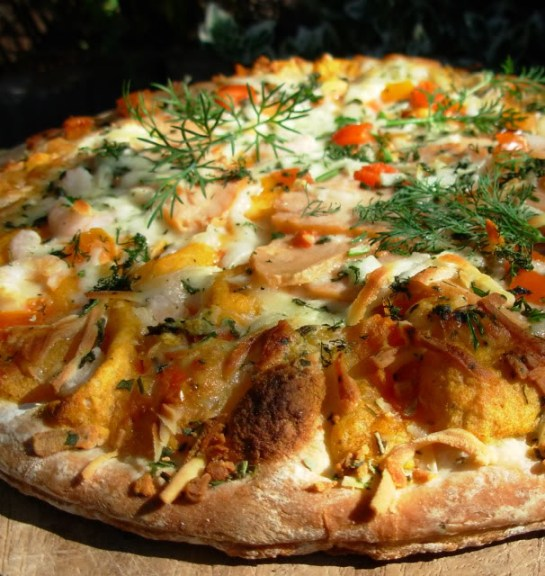 Lavender and Lovage Scottish Seafood Pizza