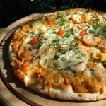 Lavender and Lovage Home-Made Seafood Pizza