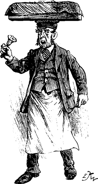 Muffin man, illustrated in Punch: 24 December 1892