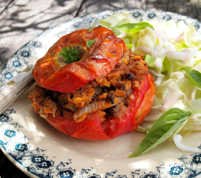 Stuffed Tomatoes with Herbs & Oats (GF)