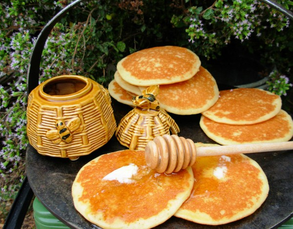 Scotch Griddle Cakes with Heather Honey for Scotland and Best of British
