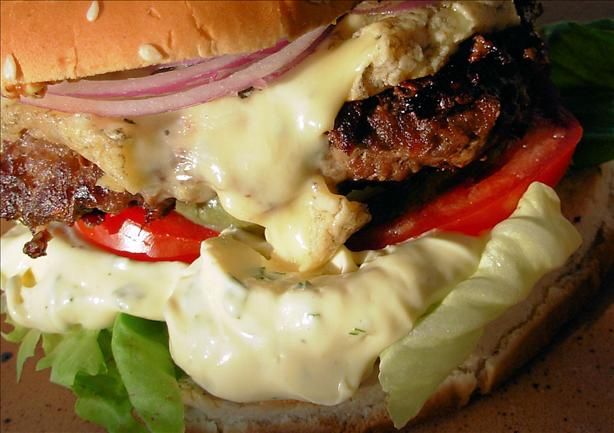 Bastille Burgers - Bearnaise, Blue Cheese and Red Onion Burgers