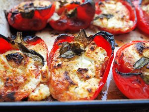 Italian Stuffed red Peppers (V)