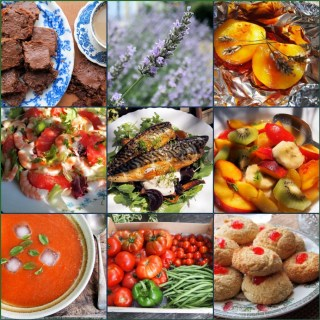 Lavender and Lovage Sunday Patchwork Quilt of Photos and Recipes + 5:2 Diet Recipes