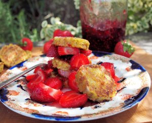 French Toast Stacks with Strawberry Compote