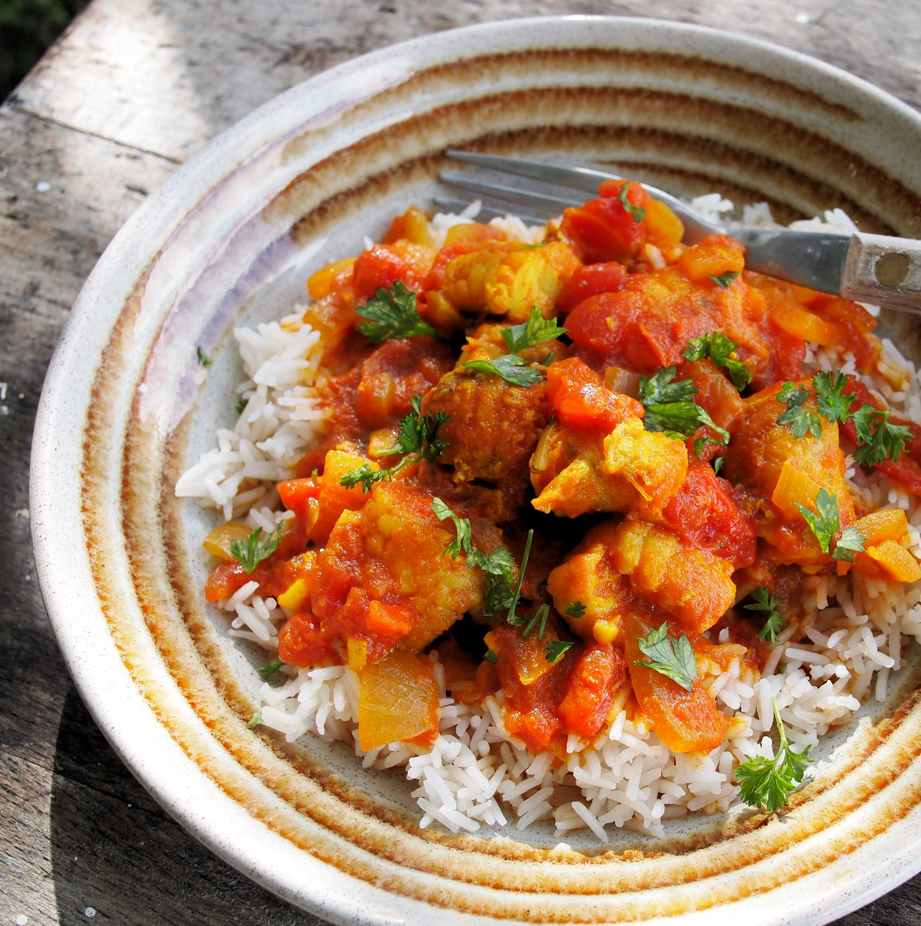 Easy Low Fat Monkfish Curry