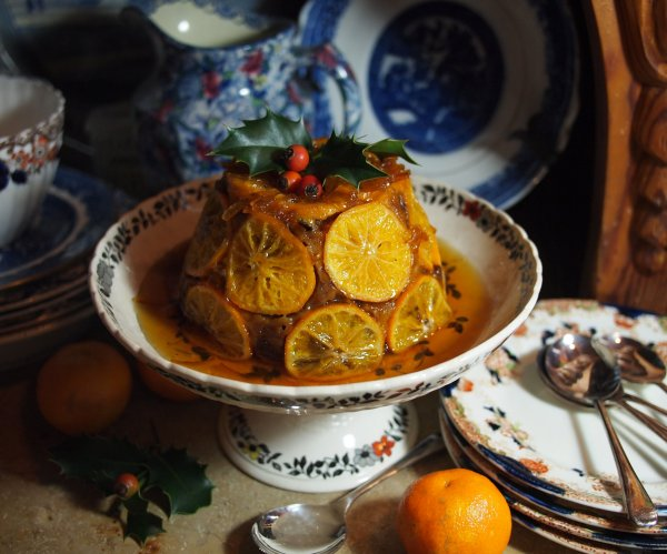 Clementine & Brandy Fruit Pudding