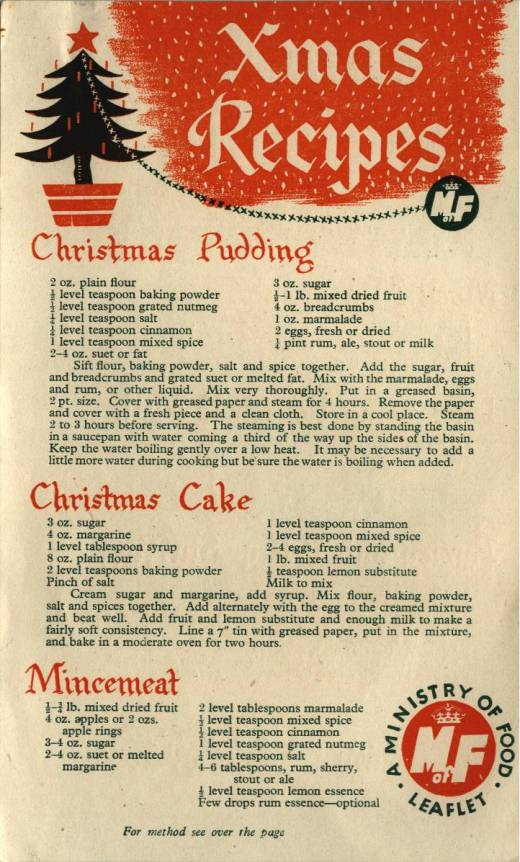 Christmas Recipes leaflet - front