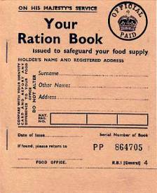 Ration Book WW2