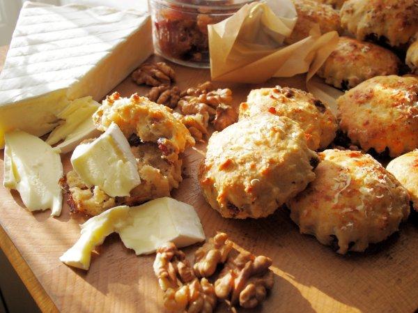 Mini Cheese, Cranberry and Walnut Scones Recipe