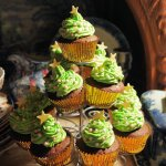 Spiced Chocolate Christmas Tree Cakes