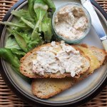 Smoked Haddock Spread with Sourdough Toast and Mesclun Leaves