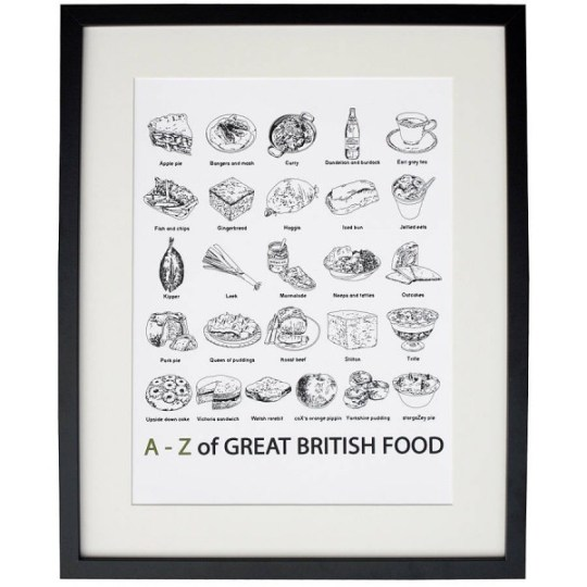 """""""A to Z of Great British Food"""" Print"""